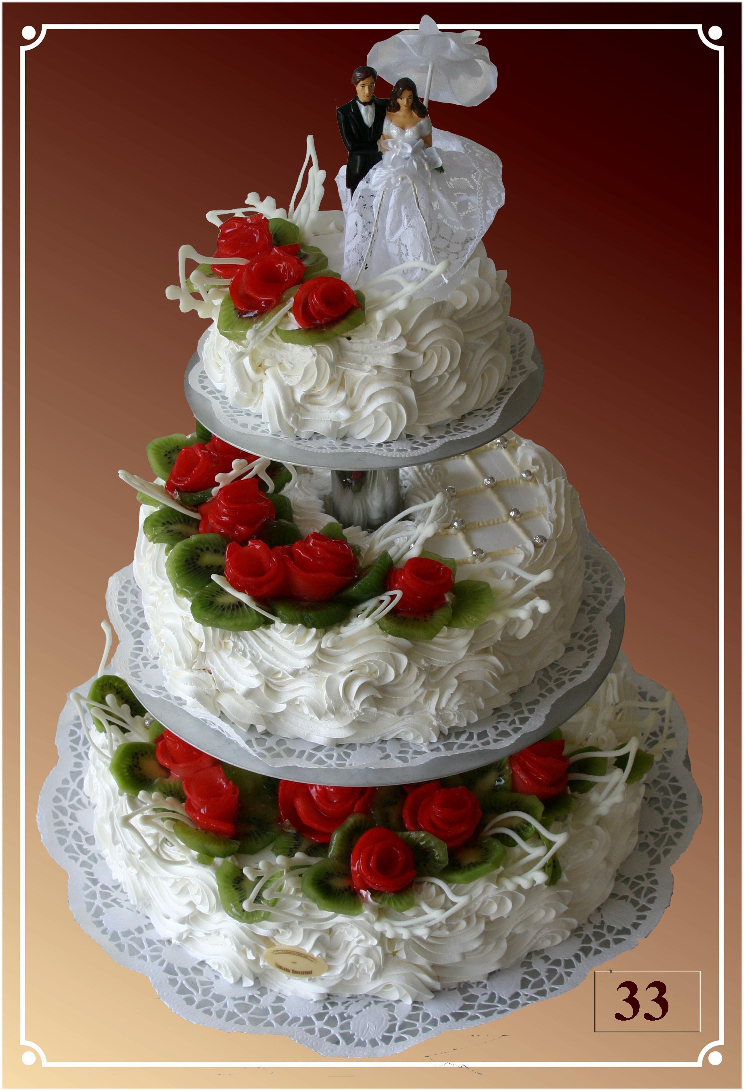 Свадебные торты на заказ цена во владимире